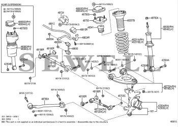 x2 New Front Lower Control Arm Strut Rod Bushing Bush For LEXUS LS400 1995-2000