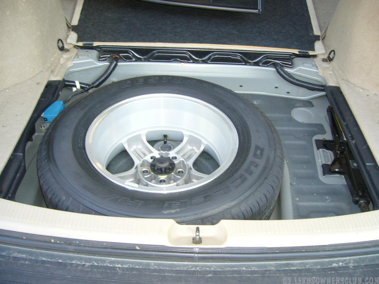 Rear Tire/Storage compartment