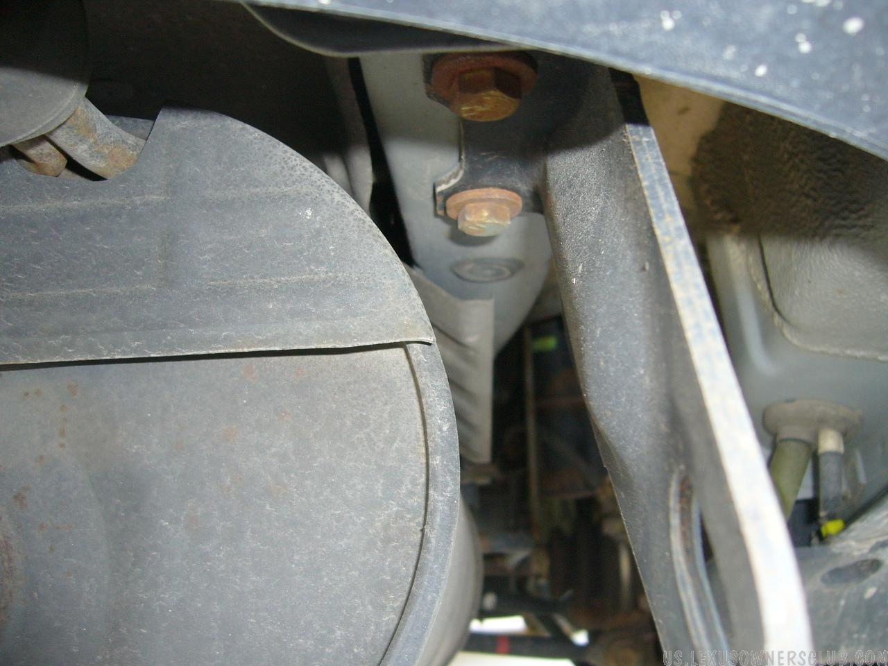 Right Side - length view of Right side hitch holes 2001 Lexu