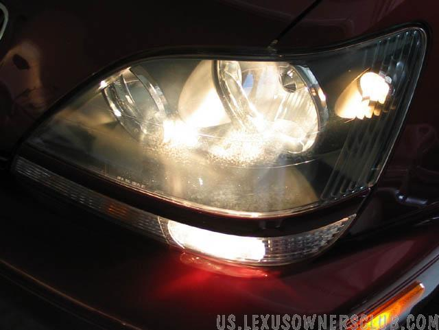 Left Headlight before PlastX