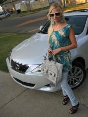 every pretty girl should drive a little white LEXUS.
