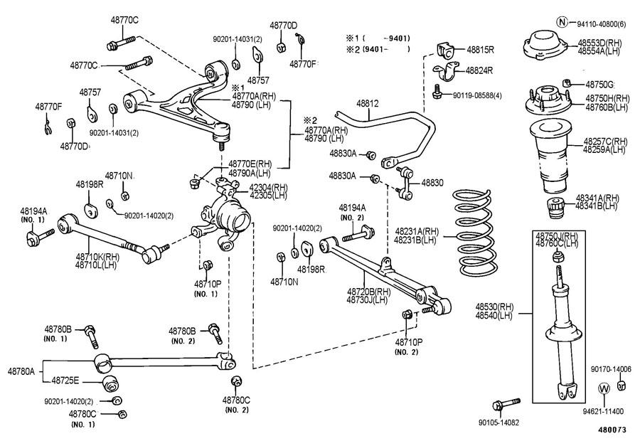 rear suspension noise over sharp bumps - 92 - 00 Lexus ...